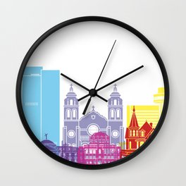 Phoenix skyline pop Wall Clock