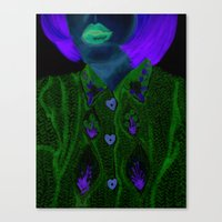 knit Canvas Prints featuring Knit by Milena Deneno