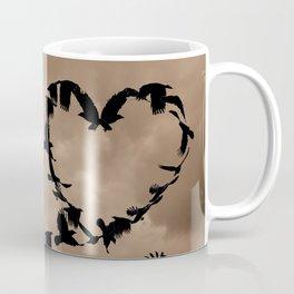 Heart of Crows (Birds) A276 Coffee Mug