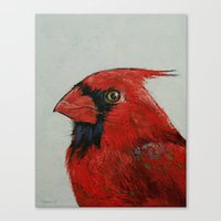 cardinal Canvas Prints featuring Cardinal by Michael Creese