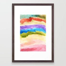 watercolor abstract painting_1 Framed Art Print