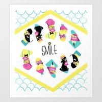 Hipster Smile Art Print