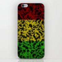 rasta iPhone & iPod Skins featuring Electric Rasta by organicdreams