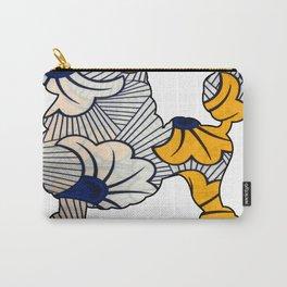 Blue Floral Poodle Carry-All Pouch