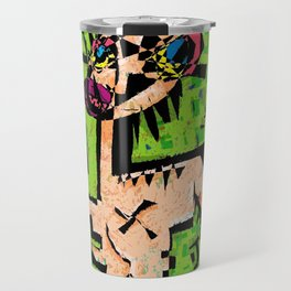 Last Night I Dreamt I Was The Praying Mantis. Travel Mug