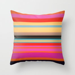 Sunset Stripes Throw Pillow