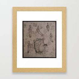 Death by Severed Fingers Framed Art Print