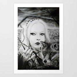 Lady of the Maze Art Print