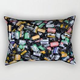 Stack of Old Camera Film Rectangular Pillow