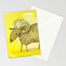 Aries Zodiac Horoscope Painting Stationery Cards