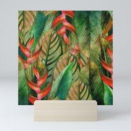 Painted Jungle Leaves 2 Mini Art Print
