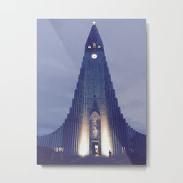 Hallgrímskirkja church Metal Print
