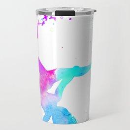 watercolor pole dance  Travel Mug