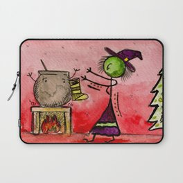 """#cagsticks """"A witchy Christmas"""" Laptop Sleeve"""