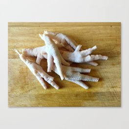 Chicken Feet without Toenails Canvas Print
