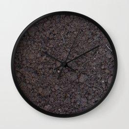 Texture #6 Soil Wall Clock