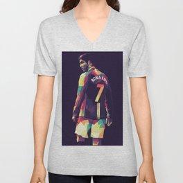 Ronaldo CR7 on WPAP Pop Art Portrait Unisex V-Neck