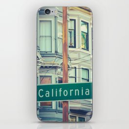 Retro California Street Sign iPhone Skin