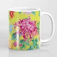 oriental Mugs featuring Oriental Flowers by Chicca Besso