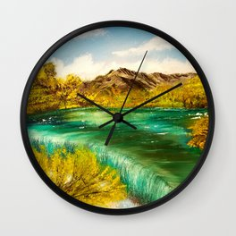 Emerald Falls Wall Clock