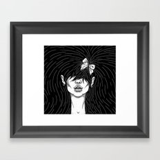 Girl With a Ribbon  Framed Art Print