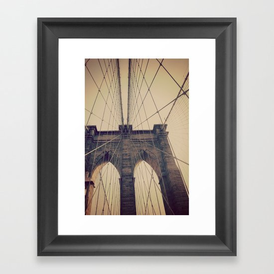 Brooklyn Web Framed Art Print