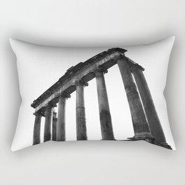 Temple of Saturn Portico - Rome Rectangular Pillow