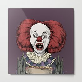Pennywise is hungry Metal Print