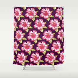 Kennedy Deep Purple Shower Curtain