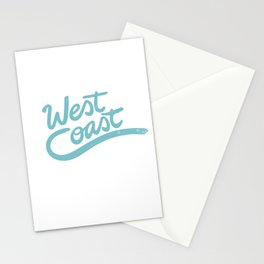 West Coast Surf typography Stationery Cards