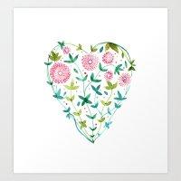 garden heart Art Print