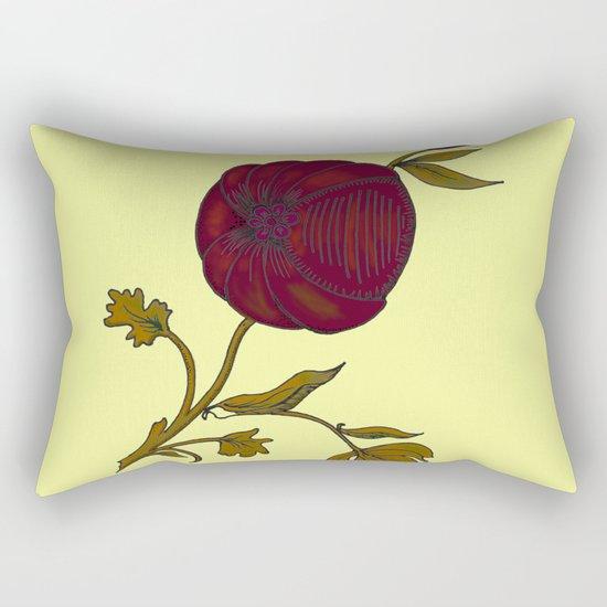 simple decorative pomegranate 3 Rectangular Pillow