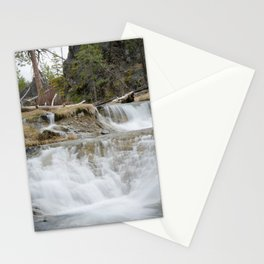 Paulina Creek Waterfall In Oregon Stationery Cards