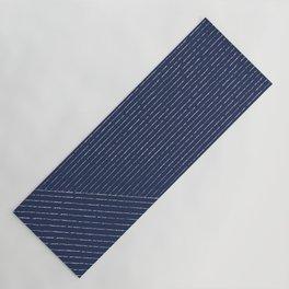 Lines (Navy) Yoga Mat
