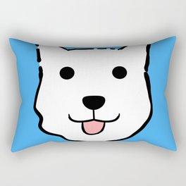 Malachi the Huskimo Dog (Blue) Rectangular Pillow