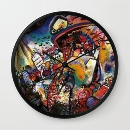 Moscow by Wassily Kandinsky Wall Clock