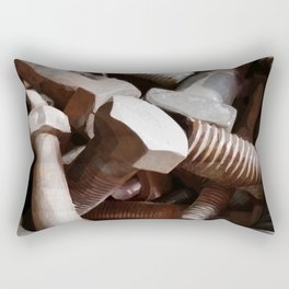 Bolt on the wall Rectangular Pillow