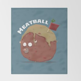 THE MEATBALL Throw Blanket