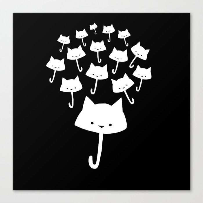 minima - cat rain Canvas Print