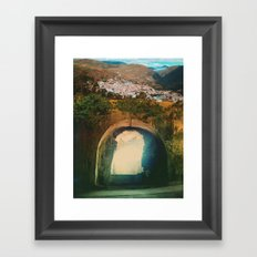 Tunnel Del Sol Framed Art Print