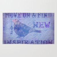 motivation Area & Throw Rugs featuring Motivation by LebensART