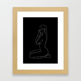 feminine profile Framed Art Print