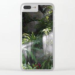 Garden watering Clear iPhone Case