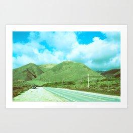 Salinas Mountains // California Art Print