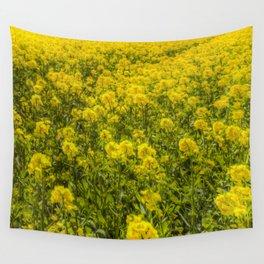 Yellow Fields Of Summer Art Wall Tapestry