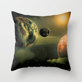 Space One Throw Pillow