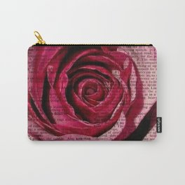 Paper Roses Carry-All Pouch