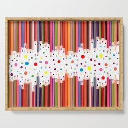 Colorful Pencils - Drawing Tools #society6 #decor #buyart Serving Tray