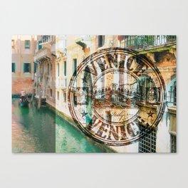 Venice Typograph Canvas Print