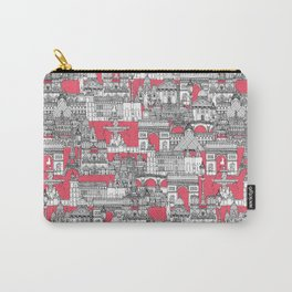 Paris toile strawberry pink Carry-All Pouch